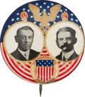 Political:Pinback Buttons (1896-present), Wilson & Marshall: Stunning Jugate. ...