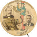 Political:Pinback Buttons (1896-present), Roosevelt & Fairbanks: Fantastic Advertising Classic. ...