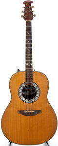 Musical Instruments:Acoustic Guitars, 1980's Ovation 1517 Natural Acoustic Electric Guitar, Serial Number #334200....