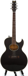 Musical Instruments:Acoustic Guitars, Washburn Woodstock Black Acoustic Electric Guitar....