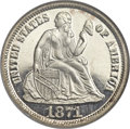 Proof Seated Dimes, 1871 10C PR66 Ultra Cameo NGC....