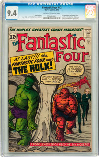 Fantastic Four #12 (Marvel, 1963) CGC NM 9.4 Off-white to white pages