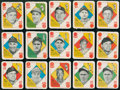 Baseball Cards:Sets, 1951 Topps Red Back Near Set (33/54) Plus Extra....