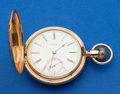Timepieces:Pocket (post 1900), Howard 14k Gold N Size Series VII Hunter's Case Pocket Watch. ...