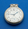 Timepieces:Pocket (post 1900), Waltham Sharp 23 Jewel 16 Size Vanguard With Wind Indicator. ...