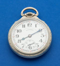 Timepieces:Pocket (post 1900), Illinois Sharp 161 A Elinvar 21 Jewel 60 Hour Bunn Special PocketWatch. ...