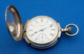 Elgin 21 Jewel 18 Size Coin Silver Box Hinged Case Pocket Watch