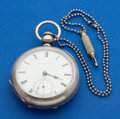 Timepieces:Pocket (pre 1900) , Waltham Model 57 Coin Silver Key Wind Pocket Watch. ...