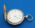 Timepieces:Pocket (pre 1900) , Hampden Coin Silver 18 Size Key Wind Pocket Watch. ...