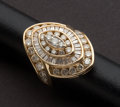 Estate Jewelry:Rings, Spectacular Diamond & Gold Ring. ...