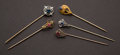 Estate Jewelry:Stick Pins and Hat Pins, Five Antique Gold Stick Pins. ... (Total: 5 Items)