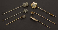 Six Antique Diamond Stick Pins