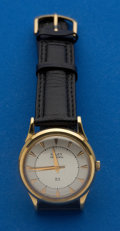Timepieces:Wristwatch, Gruen 18k Gold Automatic Wristwatch. ...