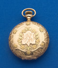 Timepieces:Pocket (post 1900), Waltham 6 Size 14k Gold Multi-Color Pocket Watch. ...