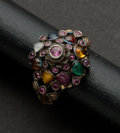 Estate Jewelry:Rings, Estate Multi-Color Gemstones & Gold Ring. ...