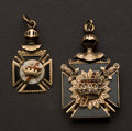 Estate Jewelry:Other , Two Masonic Gold Watch Fobs. ... (Total: 2 Items)