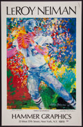 Football Collectibles:Others, Roger Staubach and LeRoy Neiman Signed Lithograph. ...