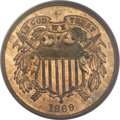 Proof Two Cent Pieces, 1869 2C PR65 Red PCGS....