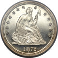 Proof Seated Quarters, 1872 25C PR64 Deep Cameo PCGS. CAC....