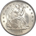 Seated Half Dollars, 1864 50C MS67 PCGS. CAC....
