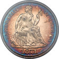 Proof Seated Dimes, 1871 10C PR65 Cameo PCGS. CAC....