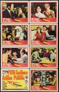 """On the Beach (United Artists, 1959). Lobby Card Set of 8 (11"""" X 14"""") & Uncut Pressbook (24 Pages,12.5""""..."""