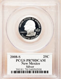 Proof Statehood Quarters, 2008-S 25C N.M. Silver PR70 Deep Cameo PCGS. PCGS Population (319).NGC Census: (0). Numismedia Wsl. Price for problem fr...