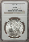 Morgan Dollars: , 1887 $1 MS64 NGC. NGC Census: (72349/27993). PCGS Population (51358/15683). Mintage: 20,290,710. Numismedia Wsl. Price for ...