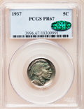 Proof Buffalo Nickels, 1937 5C PR67 PCGS. CAC....