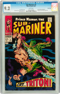 Silver Age (1956-1969):Superhero, The Sub-Mariner #2 Twin Cities pedigree (Marvel, 1968) CGC NM- 9.2 White pages....
