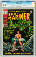 Silver Age (1956-1969):Superhero, The Sub-Mariner #13 Twin Cities pedigree (Marvel, 1969) CGC NM+ 9.6 White pages....