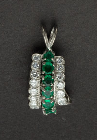 Estate Emerald & Platinum Pendant
