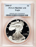 Modern Bullion Coins, 2000-P $1 Silver Eagle PR69 Deep Cameo PCGS. PCGS Population(6213/188). NGC Census: (16096/1855). Numismedia Wsl. Price ...