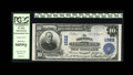 National Bank Notes:Pennsylvania, Allentown, PA - $10 1902 Plain Back Fr. 624 The Allentown NB Ch. # 1322. Printed officer signatures adorn this lightly h...