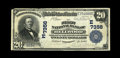 National Bank Notes:Pennsylvania, Bellwood, PA - $20 1902 Plain Back Fr. 650 The First NB Ch. #(E)7356. This Very Fine note is at least the equal, pe...