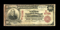 National Bank Notes:Pennsylvania, Braddock, PA - $10 1902 Red Seal Fr. 613 The Union NB Ch. #(E)6796. This Red Seal only bank did business for just a bit...