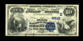National Bank Notes:Pennsylvania, Forest City, PA - $10 1882 Value Back Fr. 577 The First NB Ch. #(E)5518. Just two $10 Value Backs, including this nicel...