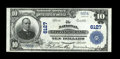 National Bank Notes:Pennsylvania, Kittanning, PA - $10 1902 Plain Back Fr. 634 The National Kittanning Bank Ch. # 6127. Extremely Fine. This is the ni...