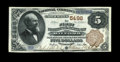 National Bank Notes:Pennsylvania, Milford, PA - $5 1882 Brown Back Fr. 477 The First NB Ch. # 5496. Abarely circulated $5 Brown Back just three light fol...