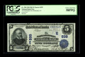 National Bank Notes:Pennsylvania, Philadelphia, PA - $5 1902 Date Back Fr. 590 The Philadelphia NBCh. # (E)539. This bright PCGS Choice About New 58PPQ...