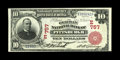 National Bank Notes:Pennsylvania, Pittsburgh, PA - $10 1902 Red Seal Fr. 613 The German NB Ch. # (E)757. This note last appeared at auction more than a de...