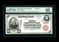 National Bank Notes:Pennsylvania, Pittsburgh, PA - $5 1902 Red Seal Fr. 587 The Mellon NB Ch. #(E)6301. A nicely centered Red Seal bearing double digit s...