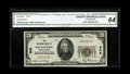 National Bank Notes:Pennsylvania, Pottstown, PA - $20 1929 Ty. 1 The NB of Pottstown Ch. # 608. Thisnote would appear to be just a sliver of top margin a...