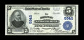 National Bank Notes:Pennsylvania, Ridgway, PA - $5 1902 Plain Back Fr. 608 The Ridgway NB Ch. # 5945. A Gem Crisp Uncirculated note that sets the stan...