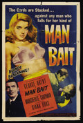 "Movie Posters:Crime, Man Bait (Lippert, 1952). One Sheet (27"" X 41""). Crime. ..."