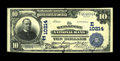 National Bank Notes:Pennsylvania, Weissport, PA - $10 1902 Plain Back Fr. 628 The Weissport NB Ch. #(E)10214. This is a new note for the census which cur...