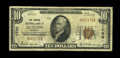 National Bank Notes:Vermont, Rutland, VT - $10 1929 Ty. 1 The Central NB Ch. # 1700. A Very Good from a rather scarce Vermont issuer. One of just...