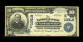 National Bank Notes:Virginia, Charlottesville, VA - $10 1902 Plain Back Fr. 631 The NB ofCharlottesville Ch. # (S)10618. This was the first of two ti...