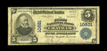 National Bank Notes:Virginia, Chatham, VA - $5 1902 Plain Back Fr. 606 The First NB Ch. # 10821.An extremely rare bank with a total population of jus...