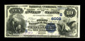 National Bank Notes:Virginia, Clifton Forge, VA - $10 1882 Value Back Fr. 577 The First NB Ch. #(S)6008. An exceptionally pretty Value Back which is ...